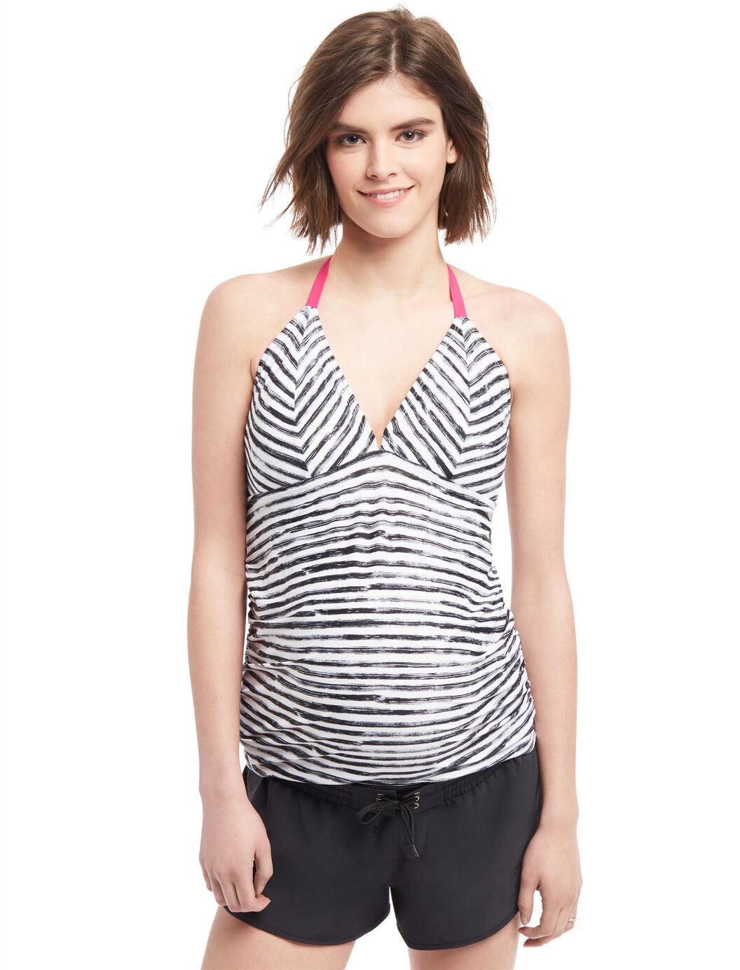 Halter Maternity Tankini Top at Motherhood Maternity in Victor, NY | Tuggl