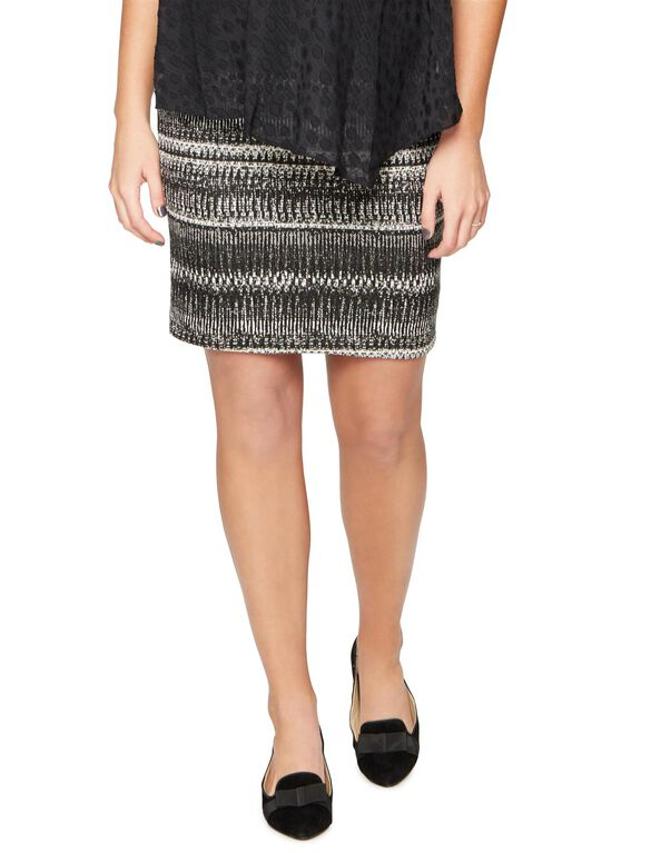 Under Belly Pencil Fit Maternity Skirt, Multi