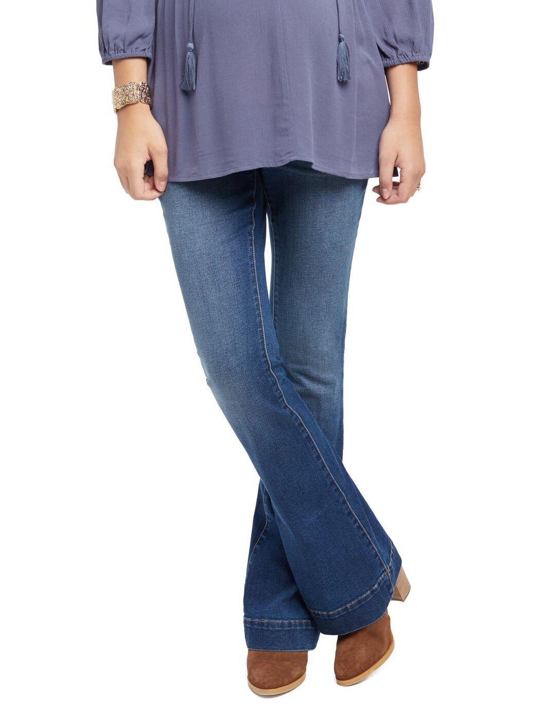 ... Indigo Blue Secret Fit Belly Flare Maternity Jeans, Medium Wash ... - Indigo Blue Secret Fit Belly Flare Maternity Jeans Motherhood