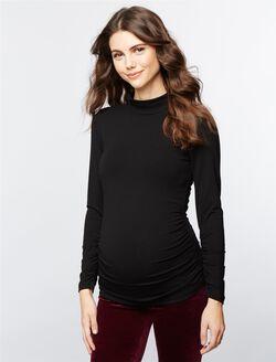 Isabella Oliver Maternity Turtleneck, Black