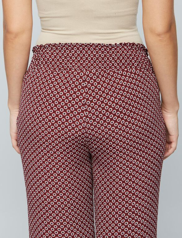 Under Belly Crepe Wide Leg Maternity Pants, Cranberry