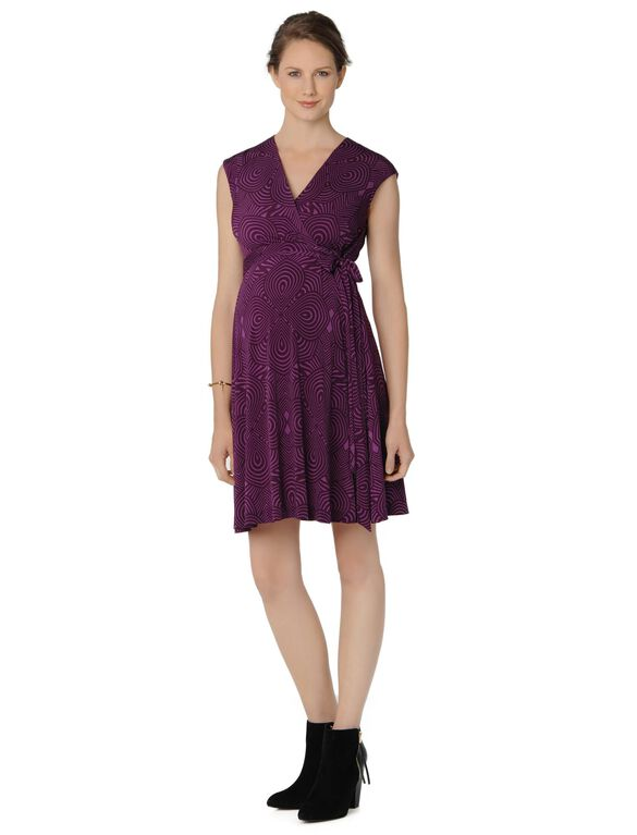 Taylor Wrap Maternity Dress, Plum....