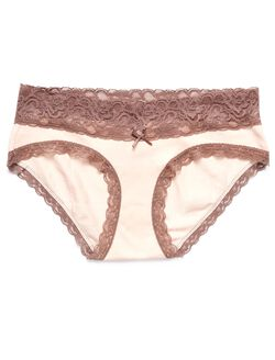 Jessica Simpson Lace Hipster Maternity Panty (single), Lt. Pink W/ Rose Lac
