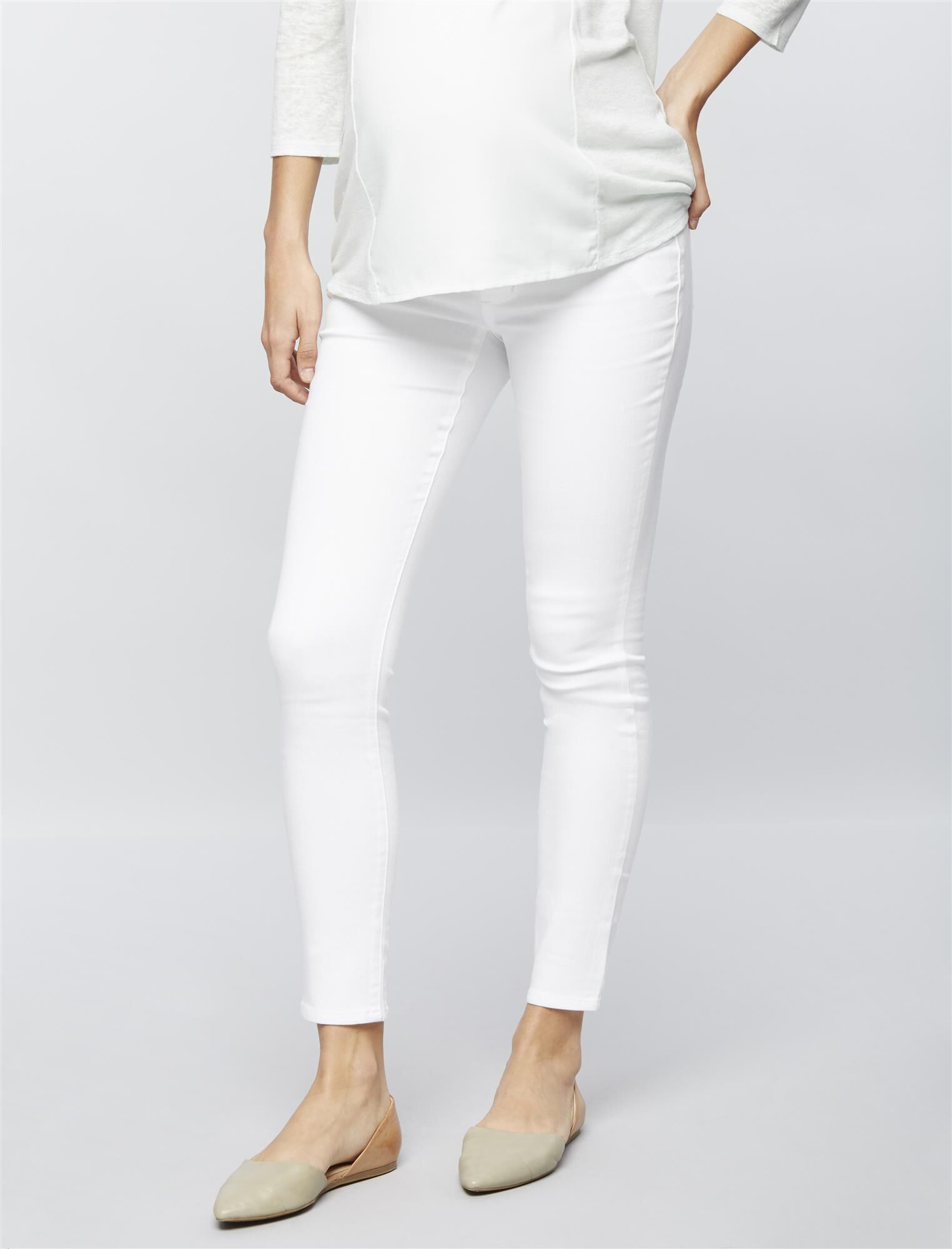 Luxe Essentials Denim Secret Fit Belly Skinny Ankle Maternity Jeans