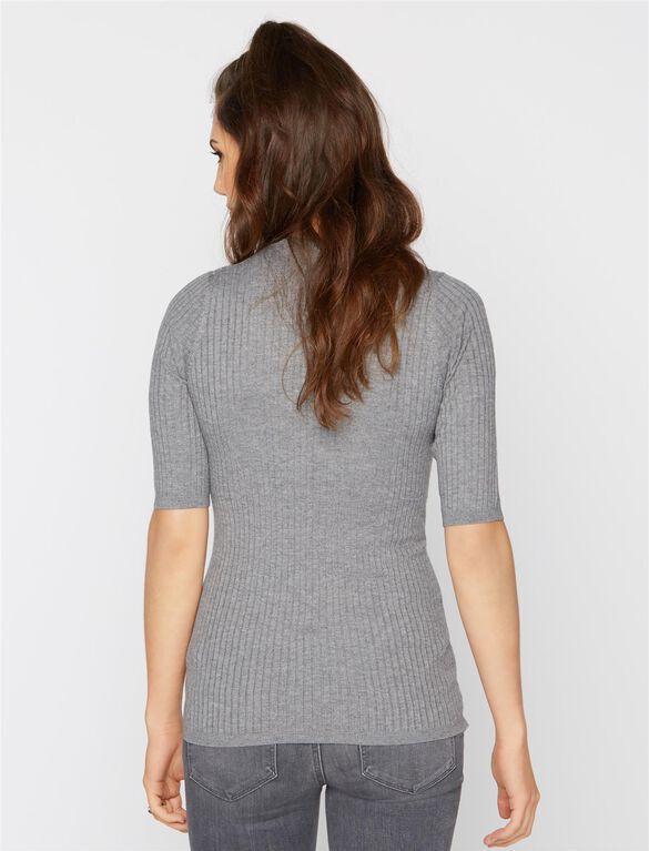Vince Maternity Crew Neck Sweater, Heather Stone