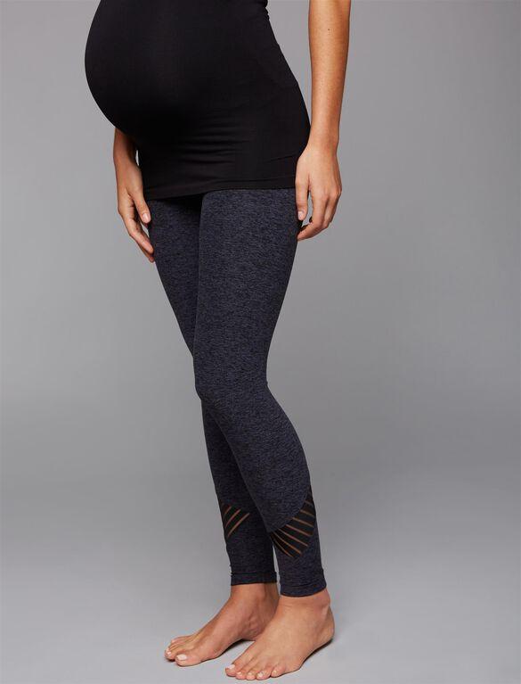 Beyond The Bump Secret Fit Belly Maternity Leggings, Black/Steel