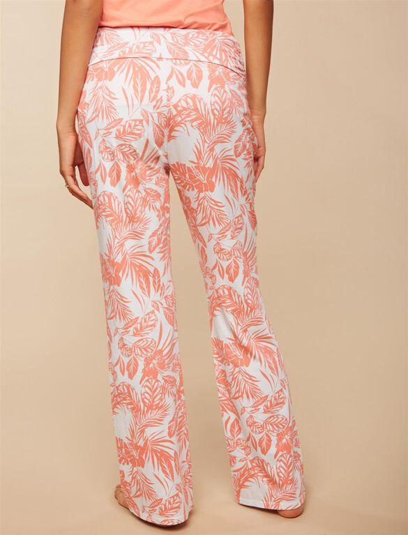 Maternity Sleep Pants, Palm Print