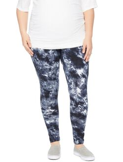 Plus Size Secret Fit Belly Maternity Leggings- Tie Dye, Tie Dye