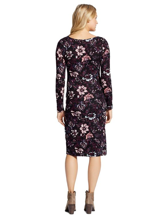 Jessica Simpson Floral Ruched Maternity Dress, Floral Print