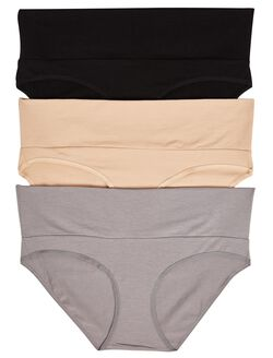Maternity Fold Over Panties (3 Pack), BlackMulti Pack