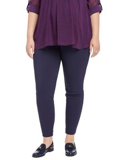 Plus Size Secret Fit Belly Skinny Ankle Maternity Pants, Navy