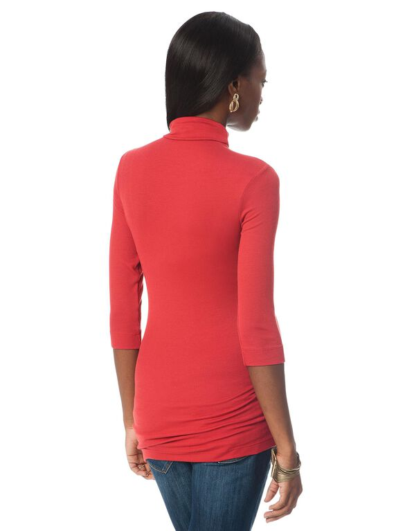 Rib Knit Maternity T Shirt, French Rose