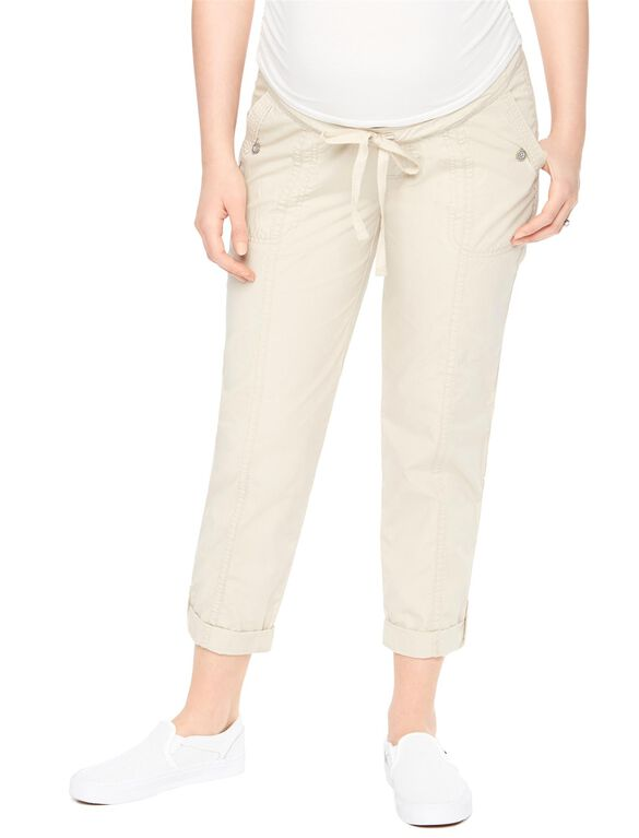 Secret Fit Belly Cargo Straight Maternity Pants, Khaki