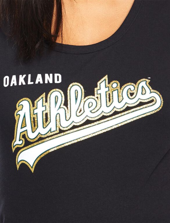 Oakland Athletics MLB You're Out Maternity Tee, Athletics Black