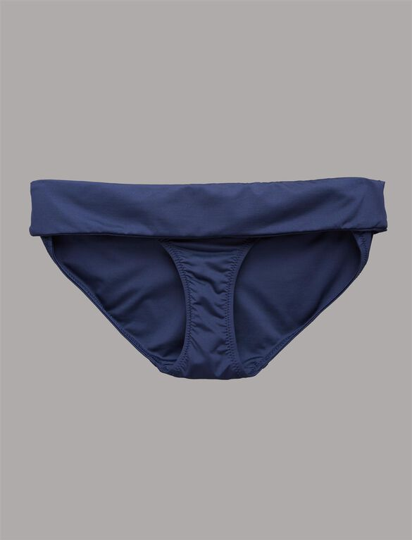 Foldover Maternity Swim Bottom, Navy