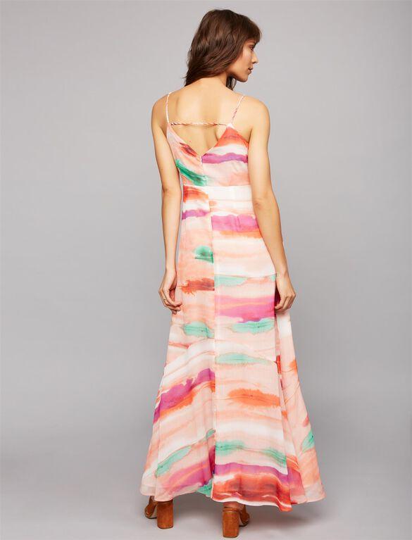Tie Dye Maternity Maxi Dress- Pink, Pink Tie Dye