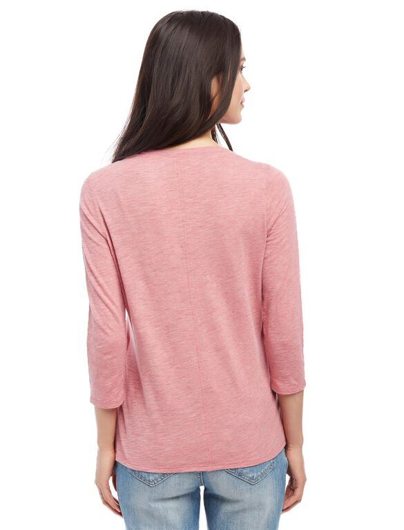 Lift Up Mock Layer Nursing Top, Pink
