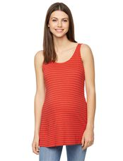 Splendid Relaxed Fit Maternity Tank Top, Fiery Red Stripe