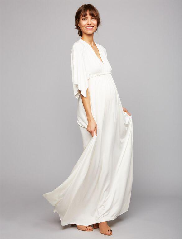 Rachel Pally Caftan Maternity Maxi Dress, White