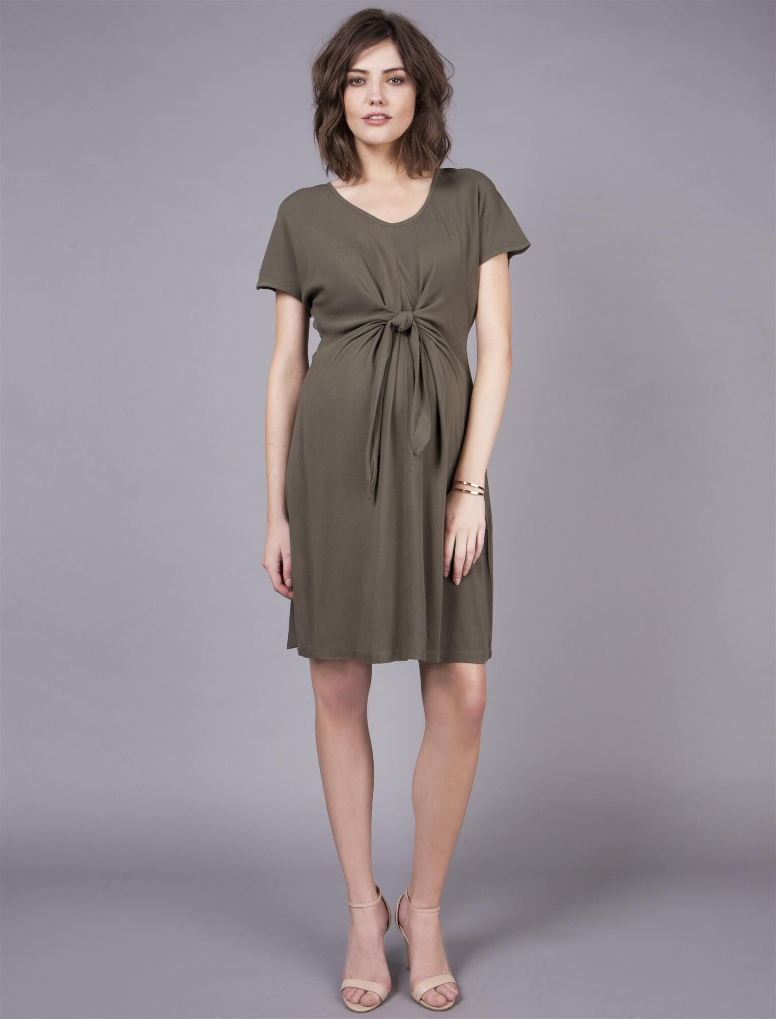 Seraphine Tie Front Maternity Dress