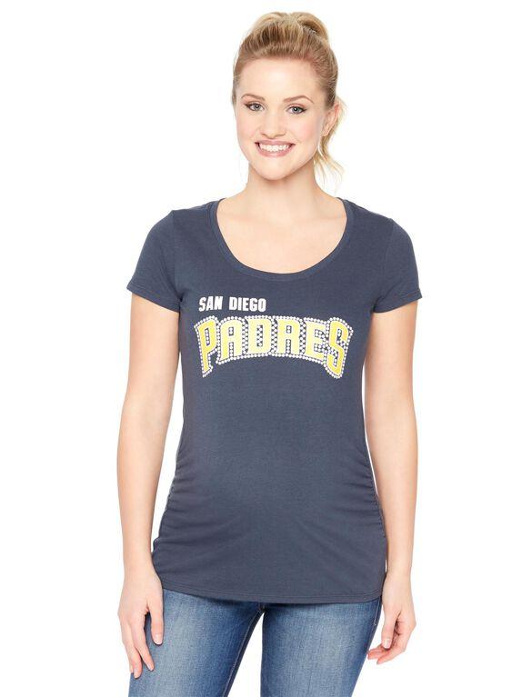 San Diego Padres MLB Short Sleeve Maternity Tee, Padres
