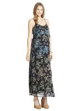 Jessica Simpson Tie Detail Floral Maternity Maxi Dress, Ombre Floral