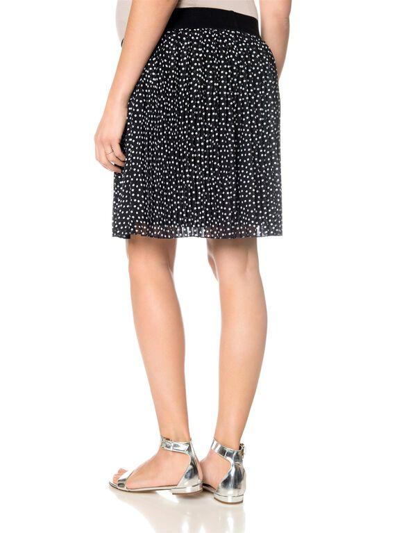 Under Belly Lined Maternity Skirt, Dot Print