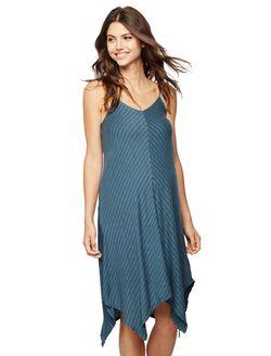 Splendid Spaghetti Strap Maternity Dress, Stripe