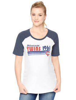 Minnesota Twins MLB Elbow Sleeve Maternity Graphic Tee, Twins