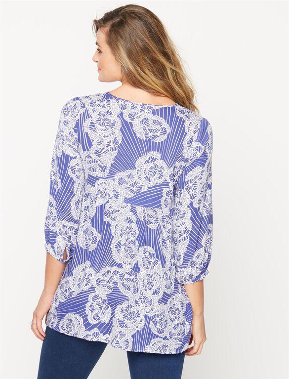 Babydoll Maternity Blouse, Butterfly Print