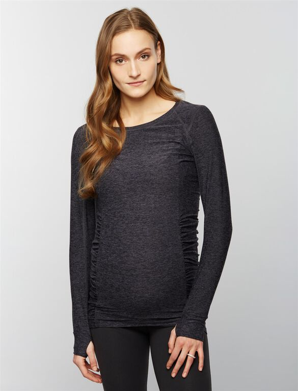 Beyond The Bump Super Soft Maternity Top, Black/Steel