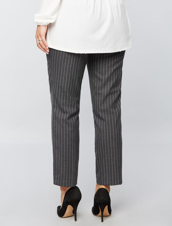 Secret Fit Belly Pinstripe Maternity Suiting Pants, Gry/Wht Pinstripe