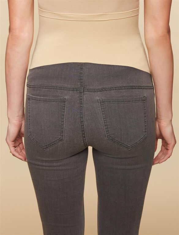 Secret Fit Belly Skinny Maternity Jeans- Grey, Medium Grey