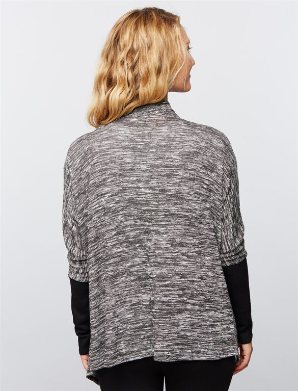 Hacci Nursing Cardigan, Heather Grey