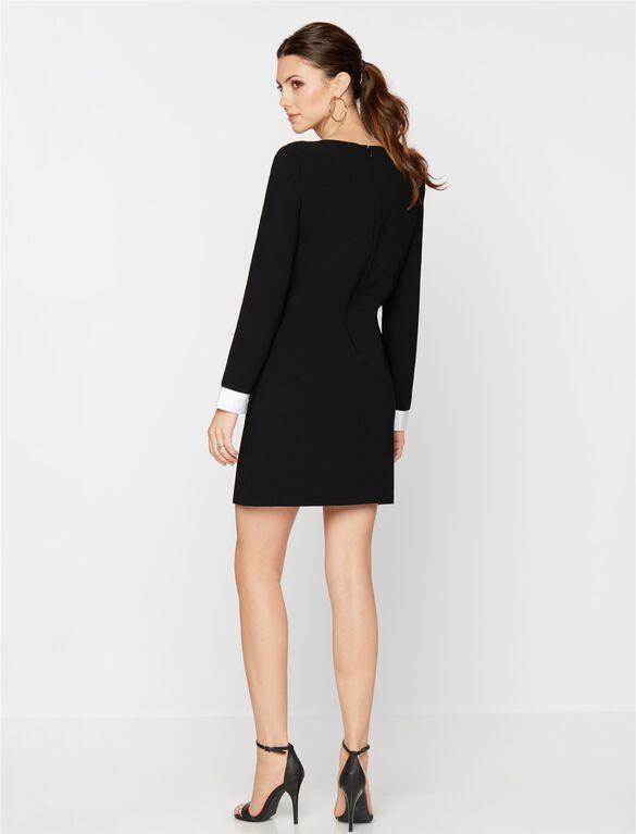 Sleeve Detail Maternity Dress, Black