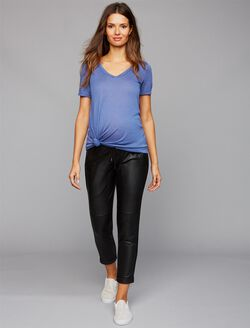 David Lerner Under Belly Jogger Maternity Jogger Pant, Black