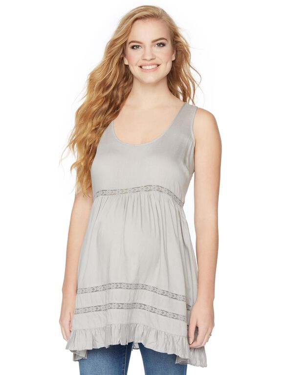 Wendy Bellissimo Swing Maternity Tunic, Natural