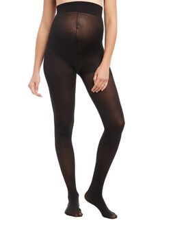 Opaque Maternity Tights With Lycra Spandex, Black