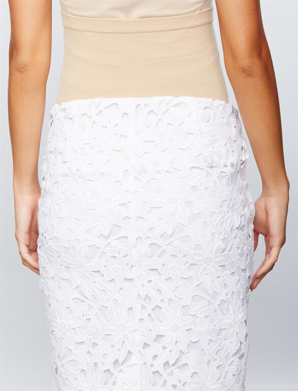 Secret Fit Belly Lace Maternity Skirt, White.