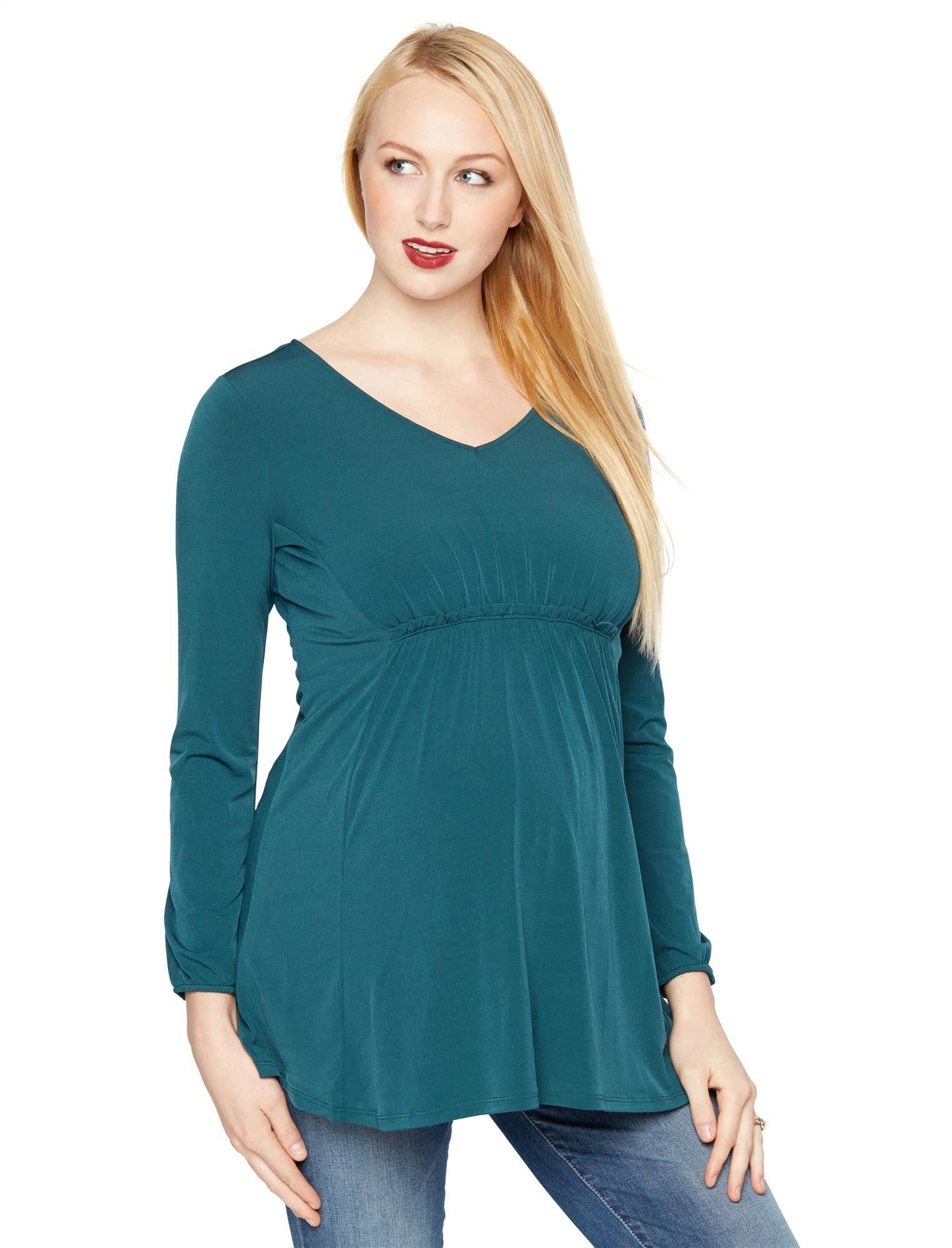 High-low Hem Maternity Tunic