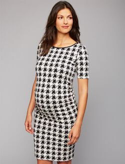 Isabella Oliver Houndstooth Maternity Dress, Houndstooth