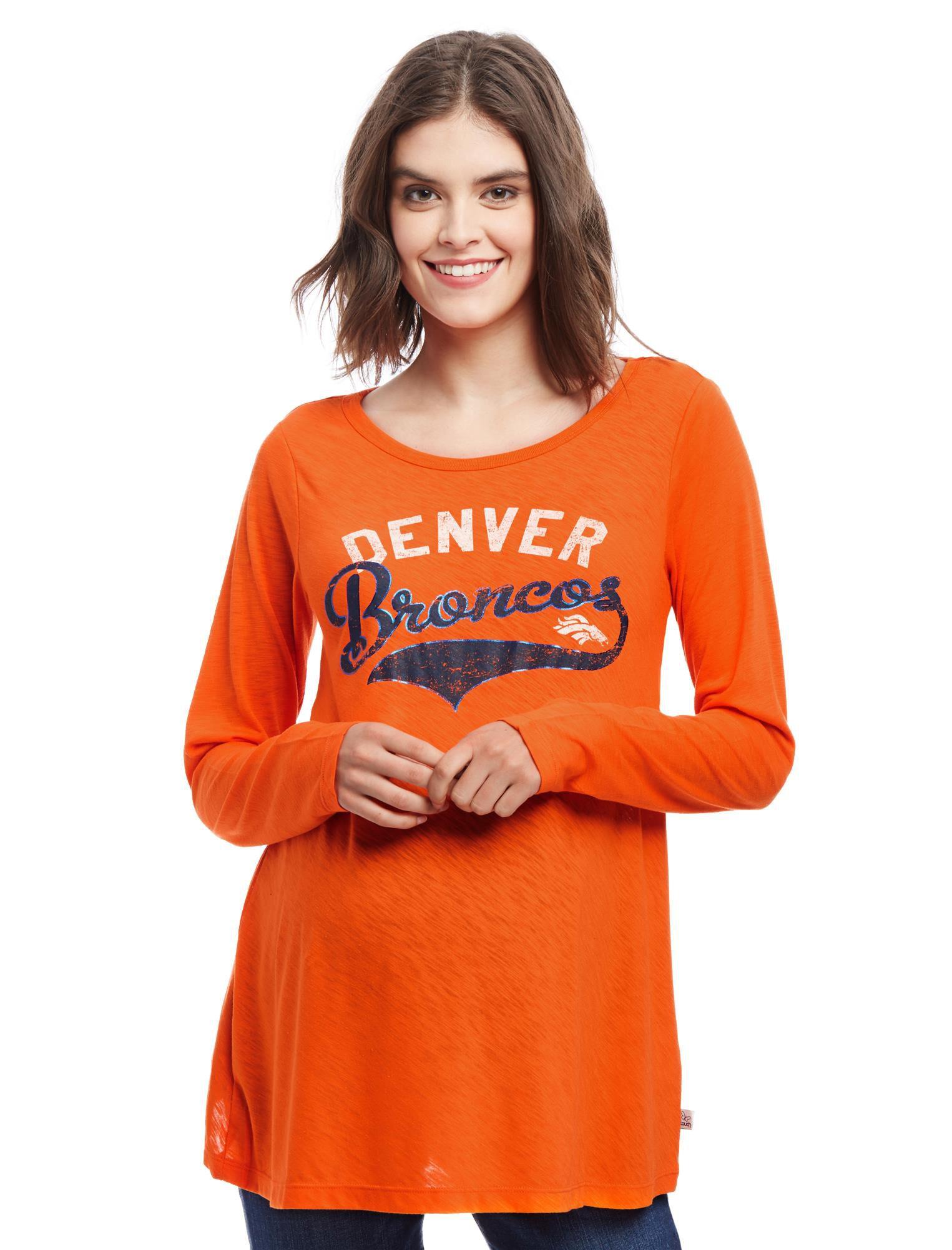 Denver Broncos NFL Long Sleeve Maternity Graphic Tee