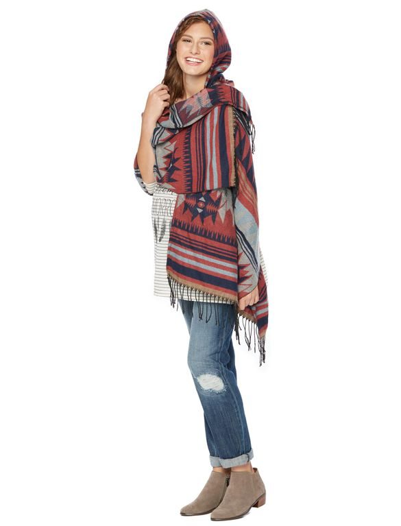 Wendy Bellissimo Warm Aztec Print Maternity Scarf, Multi Print