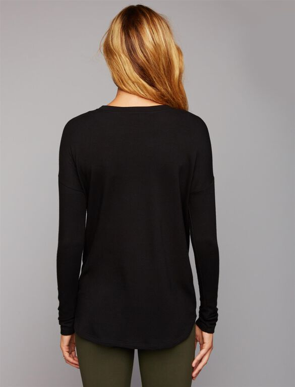 Flawless Maternity Tee, Black Graphic