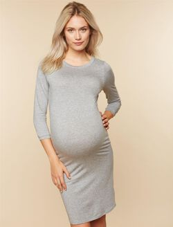 Maternity Dress, Light Grey