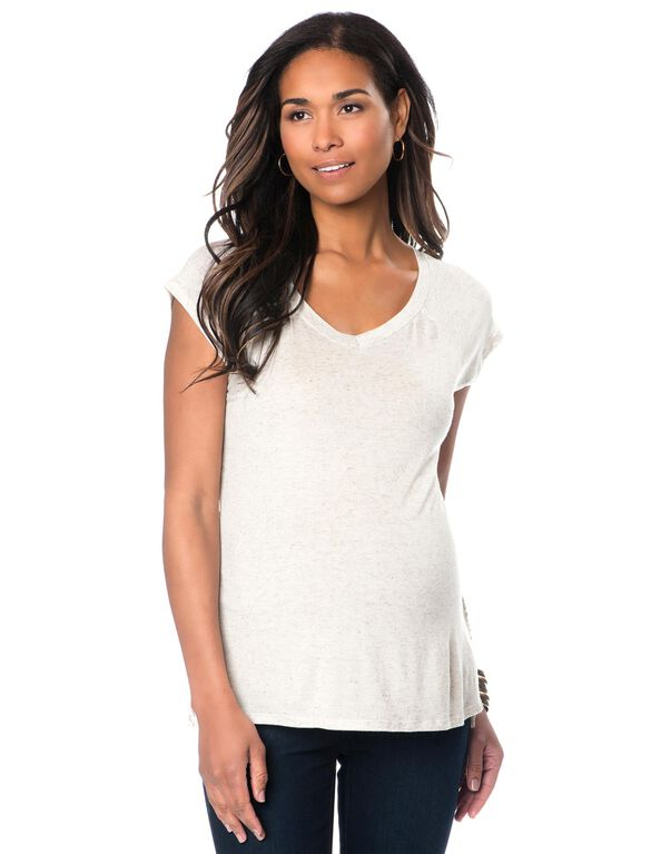 Back Interest Maternity T Shirt, Ivory