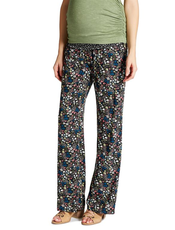 Jessica Simpson Secret Fit Belly Crepe De Chine Flare Leg Maternity Pants, Multi Ditsy