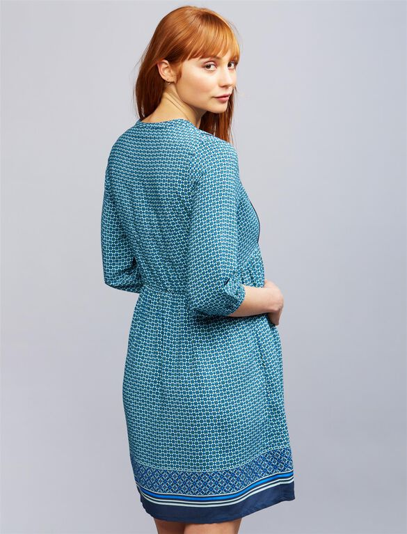Seraphine India Maternity Dress, Teal