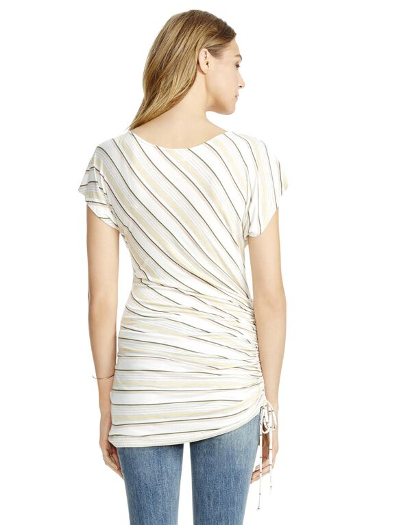 Jessica Simpson Side Tie Maternity Top- Multi Stripe, Multi Stripe