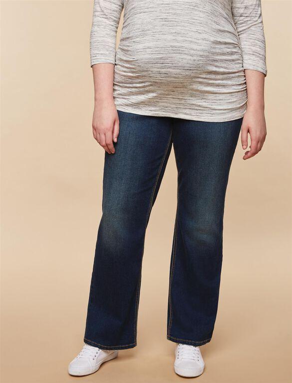 Jessica Simpson Plus Size Secret Fit Belly Dark Boot Maternity Jeans, Dark Wash